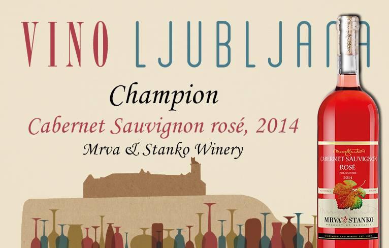 Cabernet Sauvignon Rosé | Mrva & Stanko zvíťazil v Slovinsku