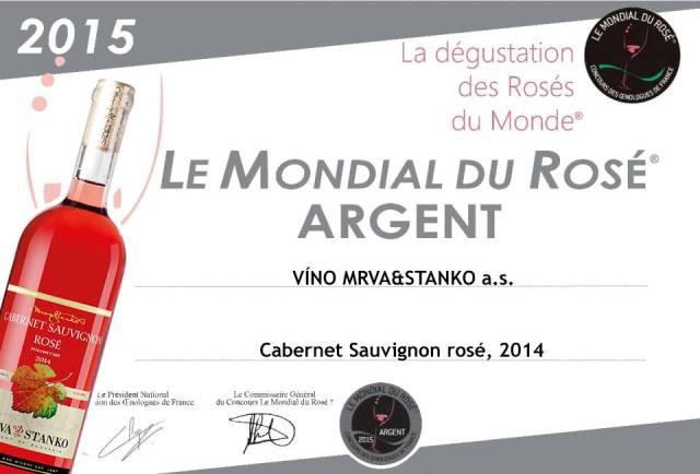 Strieborný Cabernet Sauvignon 2014 Rosé z vinárstva Mrva & Stanko