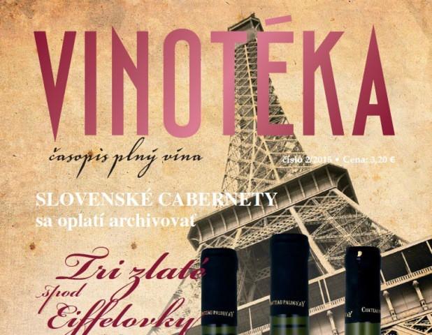 Vychádza časopis Vinotéka 02 - 2015