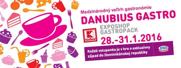 Navštívte veľtrh Danubius Gastro | Incheba | Bratislava | 28. - 31. január 2016