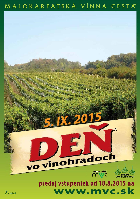 7. ročník podujatia Deň vo vinohradoch 2015 sa blíži.