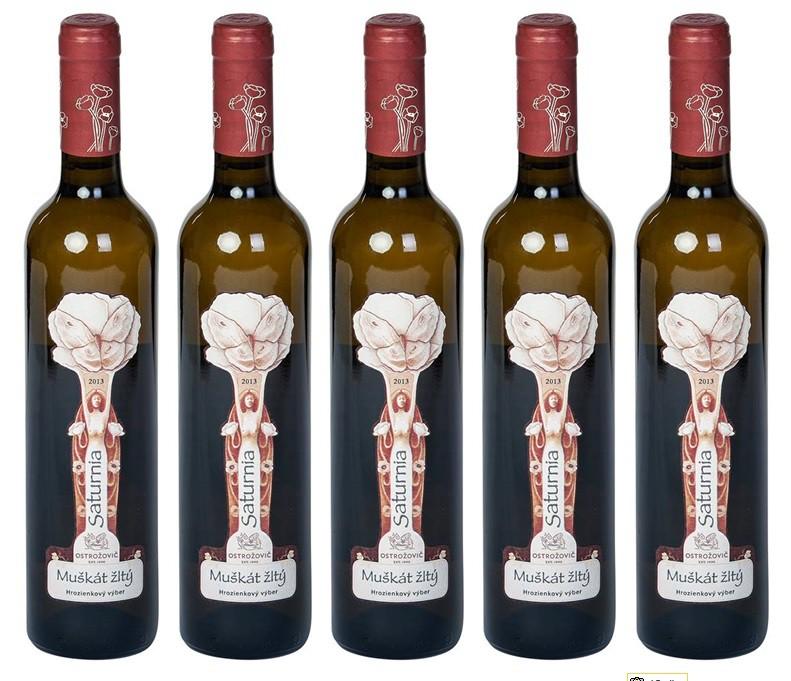 Dvojitým zlatom ocenená Saturnia z vinárstva J & J Ostrožovič na Terravino 2015