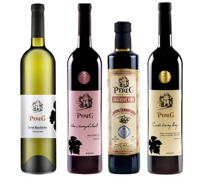 Ríbezľové a bazovo-hroznové víno cuvée Bazulienka z vinárstva Pereg v našej ponuke