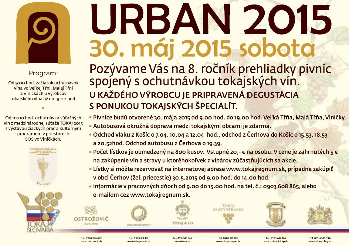 URBAN 2015 | TOKAJ | sobota, 30. máj 2015