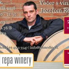 Večer s vinárom Jozefom Repom - Ochutnávka Repa Winery