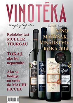 Vychádza časopis Vinotéka 1 - 2015