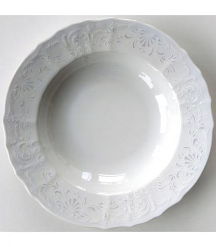 Bernadotte damask súprava tanierov 18 ks Thun Karlovarský porcelán