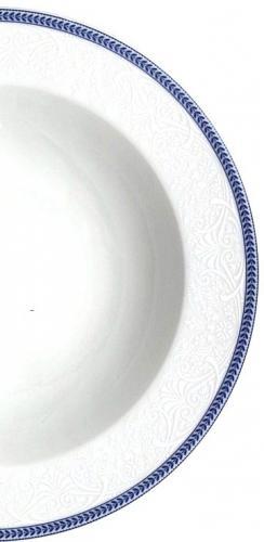 Poschodový tanier 3d - etažérka OPAL ČIPKA MODRÁ Thun