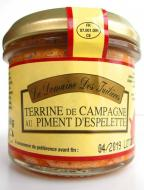 TERRINE de CAMPAGNE Farmárska terina pikantná s paprikou Espelette 90g