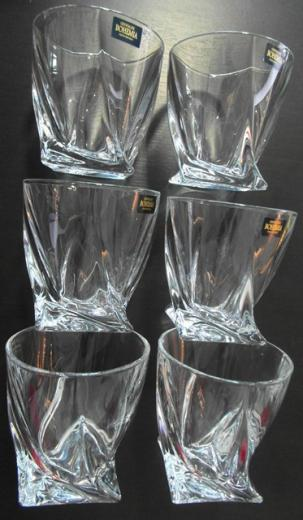 QUADRO Whisky poháre 6 ks set Bohemia Crystalite