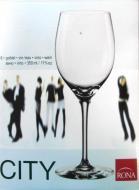 Kalich pohár čaša na víno nápoje CITY RONA 350 ml 6ks, v krabici