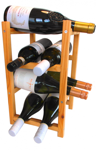 VYPREDANÉ - DREVENÝ STOJAN na víno a nápoje 8 fliaš