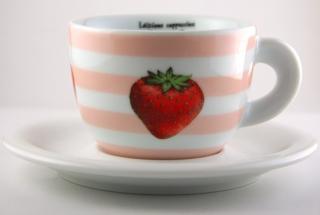 Šálka cappuccino - čaj - káva ANCAP edícia Fragole - Jahoda