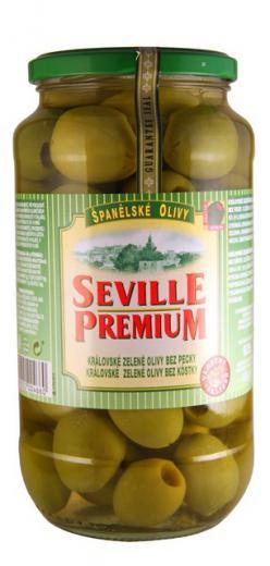 OLIVY kráľovské zelené bez kôstky SEVILLE PREMIUM Španielsko, 935g