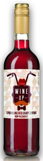 VYPREDANÉ - WINE UP RED sýtený nealkoholický hroznový nápoj, obj. 0,75L, Alk. 0 % obj.