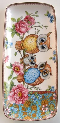 Porcelánová tácka - tanier 30 x 13,5 cm dekoračný predmet