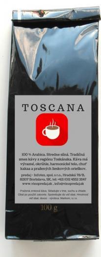 Toscana Arabica pražená zrnková káva 100g