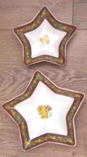 Sada Porcelán Tanier Hviezda 2ks motív zvonček