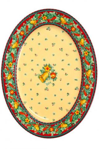 Porcelán Tanier Podnos Ovál motív zvonček