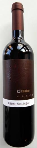 ALIBERNET Repa Winery Čajkov OAKED 2015, obj. 0,75L, Alk. 13 % obj.