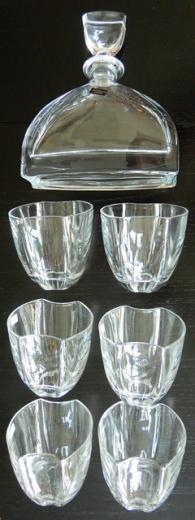 NEMO Whisky set Bohemia Crystalite súprava 1 ks karafa 6 ks poháre