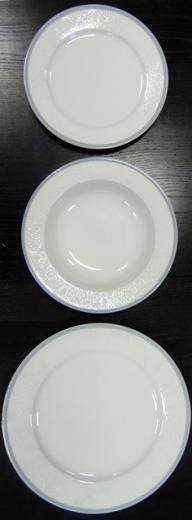 Nina súprava tanierov opál čipka šedá 18 ks Thun Bohemia porcelán