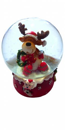 Snehová guľa, sob, darček - gift, výška 6 cm