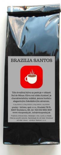 Brazilia Santos Pražená zrnková káva 1 kg