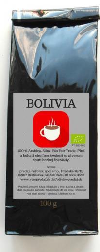 Bolívia BIO Fairtrade pražená zrnková káva 250 g coffee
