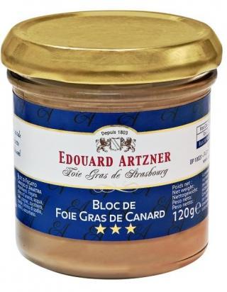 Bloc de FOIE GRAS  de Canard Edouard Artzner 120g