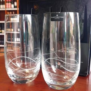 Dartington crystal Swarovski elements darčekový set - 2 ks poháre
