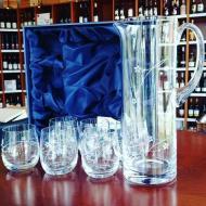 Džbán, 6 ks poháre na nápoje darčekový set Flowers Swarovski