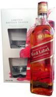 Johnnie Walker whisky set limited 0,70 L darčekový obal 2 poháre Red Label