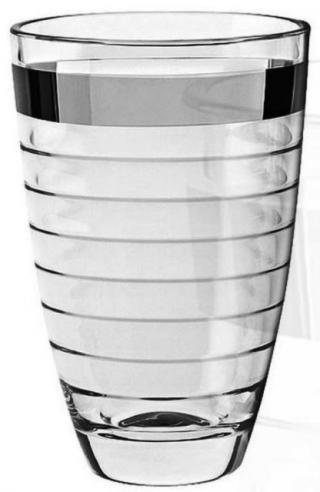 VÁZA Baguette Platino band číre sklo výška 30 cm