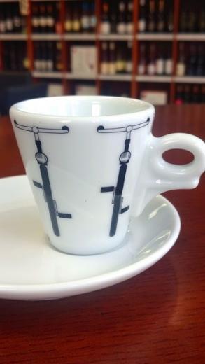 Šálka s tanierom káva espresso dANCAP káva edícia Bici