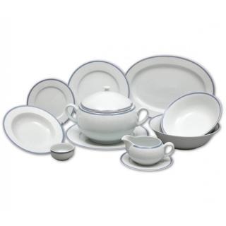 Thun porcelán obedová súprava 27 dielna ČIPKA MODRÁ