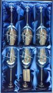 Kalich Swarovski lines, darčekový set 6 ks , 360 ml