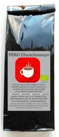 PERU CHANCHAMAYO - BIO, Faritrade pražená zrnková káva 250g
