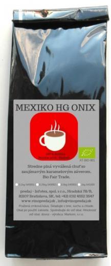 Mexiko HG Onix Bio Fairtrade pražená zrnková káva Arabica 250g