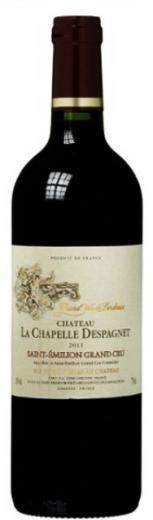 Bordeaux Chateau La Chapelle Despagnet Sain Emilion, obj. 0,75L. Alk. 13% obj.
