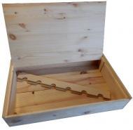 Krabica obal box na 6 fliaš drevený