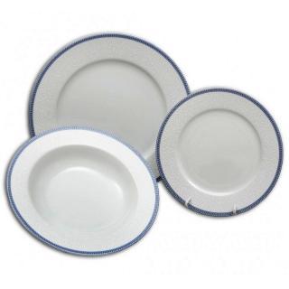 Súprava tanierov 18 dielna ČIPKA Modrá Thun Bohemia porcelán