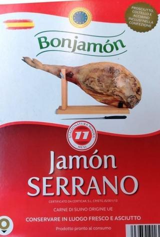 Jamon Serrano sušená šunka Španielsko