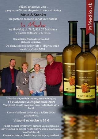Degustácia vín - Mrva & Stanko IN MEDIO Vinotéka Bratislava