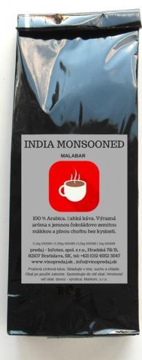 India Malabar pražená zrnková káva, coffee 100g Arabica