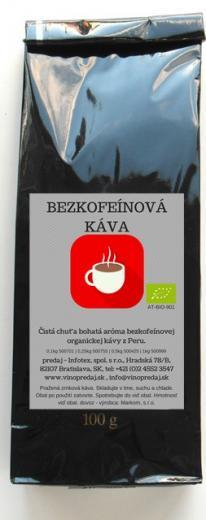 Decaffeinato Bio káva 100g bezkofeínová Arabica