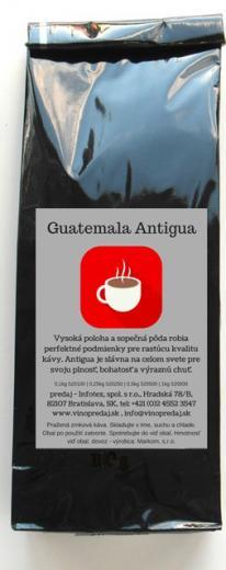 Guatemala Antiqua pražená káva, coffee 250g Arabica