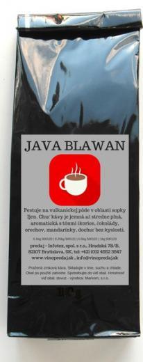 JAVA BLAWAN Arabica pražená zrnková káva 100g Arabica