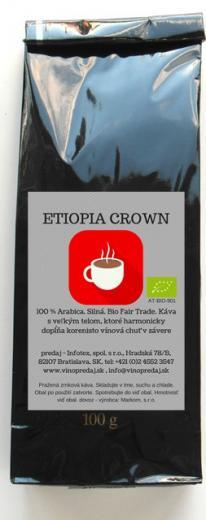 Ethiopia Crown pražená zrnková káva 1000g