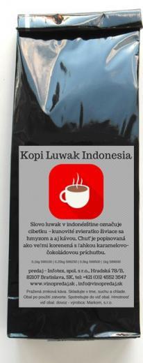 Kopi Luwak Indonesia pražená zrnková káva 100g Arabica